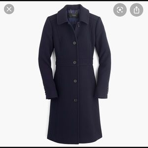 J. Crew Classic Lady Day Coat in Navy